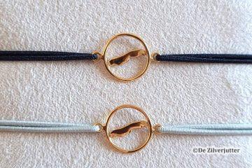DUR A1679 Vergulde vlieland armbandjes met elastiek