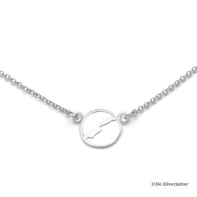 DUR_K2490 zilveren ketting met Vlieland