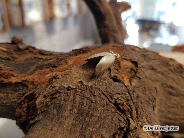 Gouden mossel schelp hanger
