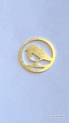 Opdracht in goud gemaakt met de graveermachine