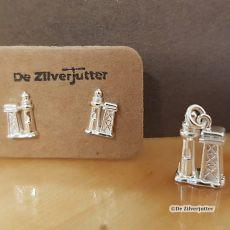 Setje 3D vuurtoren hanger en oortstekers