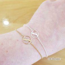 Zilveren en gouden Vlieland armbandjes - 1