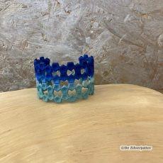 Blauw-zeegroene 3D geprinte nylon armband