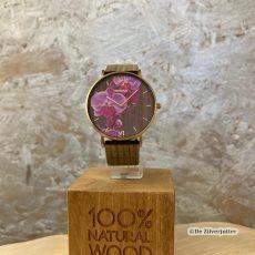 WeWood horloge met Orchide-bloem