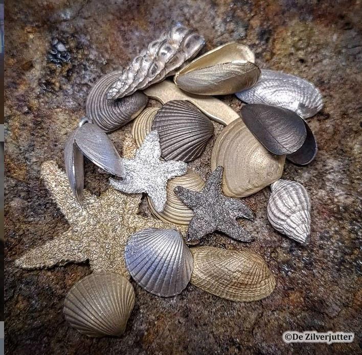 schelpen zilver en goud